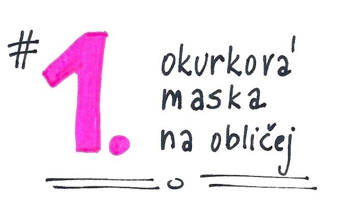 Okurková maska