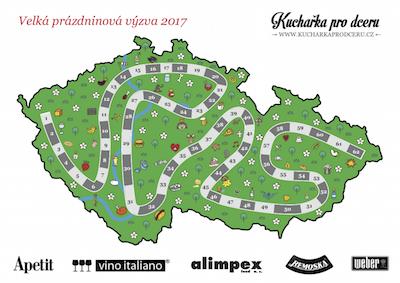 Mapa – Velká prázdninová výzva 2017 Barevná